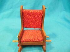 "6 1/4"" Wood Rocking Chair Pin Cushion With Thread Spool Dowels"