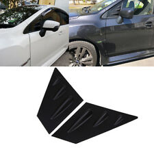 For 2015-2018 Subaru WRX STI 4-DR ABS Black Side Window Louvers Scoop Cover Vent