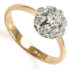 Russian Style Diamond Engagement Ring .67 ct.t.w. 14k Rose White Gold NEW.