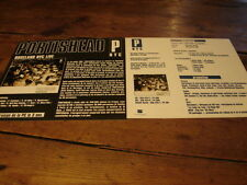 PORTISHEAD ROSELAND NYC LIVE!!!!!!RARE FRENCH PRESS/KIT