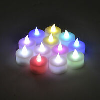 Color Changing Flameless LED Tealight  Candles Tea Light Candle 12pcs