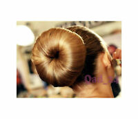 UP TO 20CM BROWN OR BLONDE BUN HAIR DOUGHNUT SHAPER RING STYLER XXXL XXL HUGE
