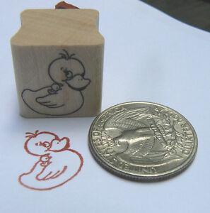 P24 Rubber ducky rubber stamp WM Miniature