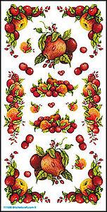 Mitchell Rub-On Transferbogen Früchte 11,7x23cm