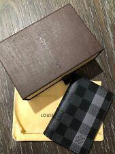 AUTHENTIC Louis Vuitton Pocket Organizer Damier Graphite Canvas