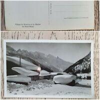 Carte postale village de Montroc et la chaîne du Mont blanc Tairraz- chamonix