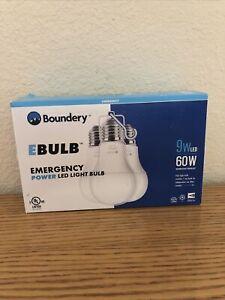 Boundrey EBLUB- Emergency Light Bulb (3-Pack) 9W LED/60W -BRAND NEW-