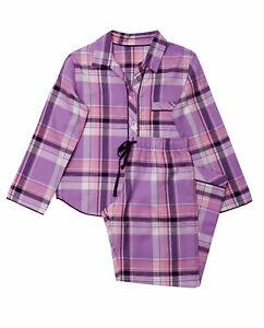 Cyberjammies Girls Purple Haze Brushed Check Pyjama Set (10-11yrs)