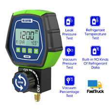 Hvac Vacuum Pressure Temp Leak Tester Refrigeration Digital Manifold Gauge Meter