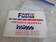 OEM Fantic Motor Owners Manual (Pg.1-50) 1978 TX312 TX313 TX314