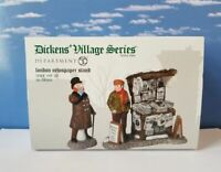 Department 56 Dickens Village LONDON NEWSPAPER STAND Set of 2!