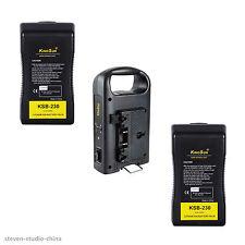 2pcs*230Wh Li-ion Battery + 1pc* 2-channel Dual Charger Anton Bauer gold mount