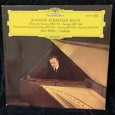 BACH Italian Concerto & Works - KARL RICHTER harpsichord - DG ST LP