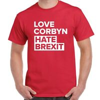 LOVE CORBYN HATE BREXIT Labour Party T-Shirt - General Election People's Vote EU
