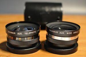 Yashica Electro Lens, Yashikor Aux. Telephoto 1:4, Yashikor Aux. Wide Angle 1:4