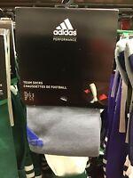 Adidas Size 2 Team Soccer Sock Grey / Blue NEW