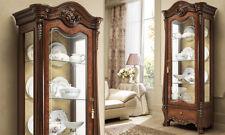 Vitrine Vitrinenschrank Wohnzimmerschrank 1-türig Nussbaum Italienische Möbel