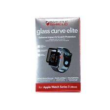 ZAGG INVISIBLE SHIELD FOR APPLE WATCH SERIES 3 38MM GLASS CURVE ELITE 200101818