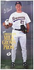 Cal Eldred Milwaukee Brewers LIFE SIZE 6 FOOT POSTER MILK VINTAGE RARE