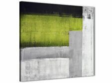 Lime Verde Grigio Pittura Cucina Decorazioni In Tela-ASTRATTO 1s424m - 64 cm
