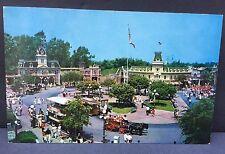 1950's Disneyland Postcard Town Square Main Street Unused A-4 3.5 X 5.5