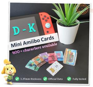 🌱 Mini Animal Crossing New Horizons Amiibo Card Nintendo Wii U 3DS Switch | D-K