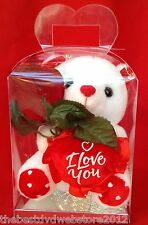 WHITE TEDDY BEAR 7"