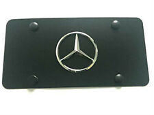 Black Stainless Steel License Plate 3D Raised Emblem Tag Screw For Mercedes-Benz