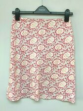 Agnis B Paris Pink Floral Skirt Size 8  <EC972