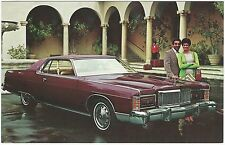 1975 Mercury MARQUIS BROUGHAM 2-Door Hardtop Dealer Promo Postcard UNUSED VG+/Ex