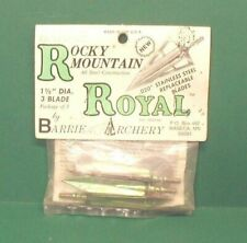 Barrie Rocky Mountain Royal 160 gr Broadheads - New Pack