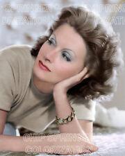 GRETA GARBO PORTRAIT #4 KNEELING BEAUTIFUL COLOR PHOTO BY CHIP SPRINGER