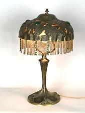 """LAMPE EN BRONZE SIGNÉE """" GEORGES LELEU (1883-1961) """" EPOQUE ART NOUVEAU DE 40 CM"""