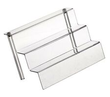 "Azar Displays 326046 9"" W by 6.25"" D Three-Tier Acrylic Step Display, 4/Pack"