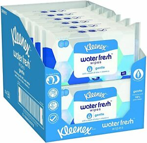 Kleenex Water Fresh Wipes Gentle Sheets Pack of 12 x 40 Wipes