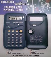 Calculadora CASIO SCR 100 - Conversor Divisa - Reloj Despertador Alarma Personal