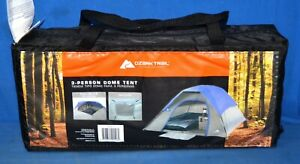 "Ozark Trail 3 Person Dome Tent 3'6"" Center Height Removable Rain Fly Gray Blue"