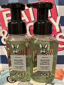(2) Bath & Body Works WINTER CITRUS WREATH 🌲 Foaming HAND SOAP Lot of 2 YUM