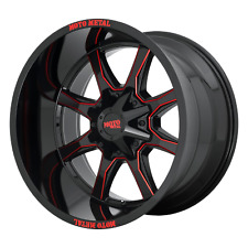 20x9 Moto Metal Mo970 Gloss Blk Milled W/Red Wheels 6x135/6x5.5 (0mm) Set of 4