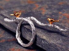 Silberring VOGEL Ring Silber 925 Verstellbar Damen Schmuck Damenringe