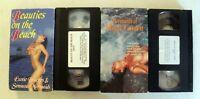 VHS: Beauties on the Beach + Mermaids of Magic Cavern: rare erotic