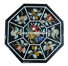 1'x1' Marble Coffee Table Top Marquetry Floral Inlay Work Outdoor Decor H4321