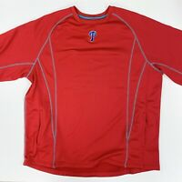 Majestic Philadelphia Phillies Mens XL MLB S/S Thermal Warmup Pullover Jacket