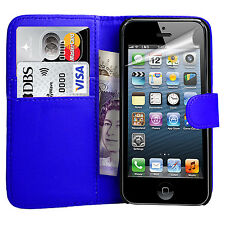 New For Apple iPhone 4 5 5G 5C & SE Leather Wallet Book Magnetic Flip Case Cover