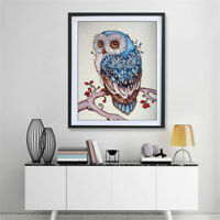 5D Owl Wall Diamond Embroidery Painting DIY Rhinestone Cross Stitch Craft