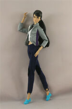 3in1Fashion cool Outfit Jacket Top+Vest+tight pants trousers = For 11.5in.Doll