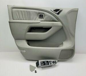 Door Panel Honda Odyssey Driver Front Left Lt Gray Switches 2005 2006 2007 2100