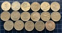 AUSTRALIAN $1 ONE DOLLAR COMMEMORATIVE YEAR AUSTRALIA COIN SET (17 Coins Total)