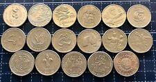 AUSTRALIAN $1 ONE DOLLAR COMMEMORATIVE YEAR AUSTRALIA COIN SET (17 Coins Total)
