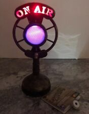 """Spooky Classic Radio Microphone Light Up Broadcast Ghost Story Halloween 12"""""""